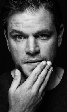 Matt Damon /Portrait / Black and White / Noir et blanc / photography / lumière / Shadow / Light