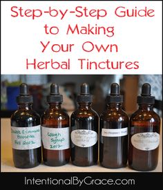 how to make an herbal tincture! great for cold and flu season that is fast approaching!