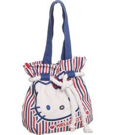Hello Kitty ''Casual at Sea'' Purse Hello Kitty, HELLO KITTY.  If you would like to buy this item just click on amazon below the Pinterest Pin, this takes you right to the amazon page. http://www.amazon.com/gp/product/B006GYK1NU?ie=UTF8=213733=393177=B006GYK1NU=shr=abacusonlines-20&=shoes=2529551011=1359683144=1-18=hello+kitty+purse