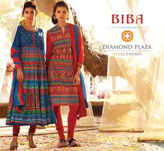 Keep changing your looks everyday with trendy collections of ethnic wear. #BIBA #DiamondPlaza