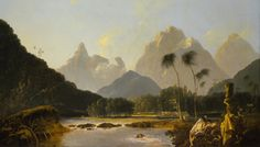 William Hodges Tahiti Revisited, on the second voyage of Captain Cook (oil on canvas, detail), 1776.
