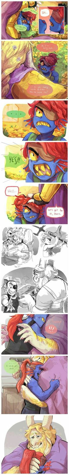 Asgore really is like a father to Undyne.