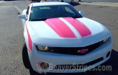 Hot Pink Camaro Rally Stripes!