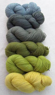 Grün mit Pflanzenfarben