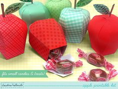 apple candy box kit party favors teacher by claudinehellmuth