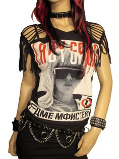 Cyber Week Sale Lady Gaga Slashed Shredded Tee Shirt by Rebeltude, $28.00