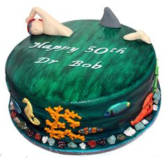 Ocean Swimmer Cake Like us on www.facebook.com/melianndesigns