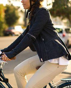 Lululemon makes biking gear! Ride On Blazer is right on Lulu Lemon, Bike Wear, Cycle Chic, Lululemon Jacket, Casual Fall Outfits, High Fashion, What To Wear, Jackets For Women, Blazer