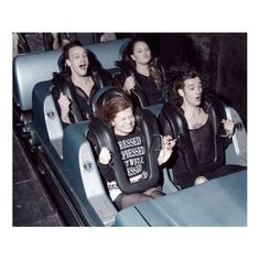 Matty & George rocking the rollercoaster with some lucky fans