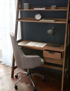Bedroom Desk with Shelves Elegant Brown Acacia Wood Desk with Shelves Structube Dina Bookcase Desk, Desk Shelves, Desk In Living Room, Bedroom Desk, Bed Room, Home Desk, Home Office Desks, Small Office Furniture, Solid Wood Desk