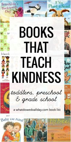 Books that Encourage Kindness Picture books about kindness. Books for toddlers, preschool and kindergartners on up.Picture books about kindness. Books for toddlers, preschool and kindergartners on up. Kindness For Kids, Books About Kindness, Teaching Kindness, Teaching Empathy, Kindness Activities, Kids Reading, Teaching Reading, Teaching Kids, Toddlers And Preschoolers