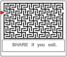 It's easy! It's like a pattern of lots of swastikas which makes it easy if you think about it(awesome advice is awesome) Memes, Mind Tricks, For Facebook, Brain Teasers, Riddles, Mind Blown, Maze Runner, Amazing, Awesome