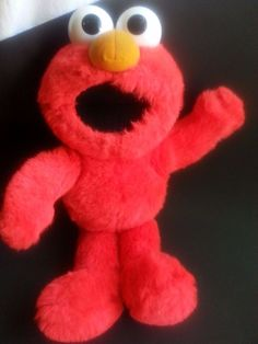 "TALKING ELMO PLUSH TOY-SINGS THE ABC'S/TODDLER-16""-SESAME STREET-W/BATTERIES…"