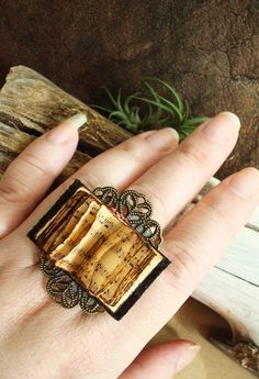 Something quite interesting...Book Ring, designed by Elsie Ralston.