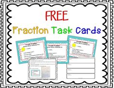 These are FREE hands-on math task cards that use the relationships between Pattern Blocks to build and challenge fraction knowledge. The activities are really fun and help kids learn independently!