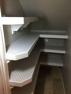 Genius Storage Ideas For Under Stairs 52 Understairs Storage basement . Genius Storage Ideas For Under Stairs 52 Understairs Storage basement . Stair Shelves, Staircase Storage, Shelves Under Stairs, Under Stairs Pantry Ideas, Closet Under Stairs, Basement Stairs, Under Stairs Cupboard Storage, Stairs Kitchen, Basement Closet