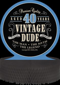 """Features: -Celebrate """"The Man, The Myth, The Legend"""" with this premium birthday party decoration. -Included: Base and round placard. -Dude collection. Product Type: -Decorative Box. Style: -Tradi"""