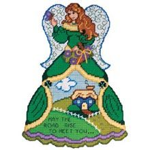 St Patty's Angel Plastic Canvas Wall Hanging  - Herrschners