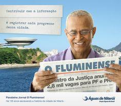 Anúncio de aniversário para o jornal O Fluminense - 2013