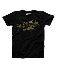 This Crazy Dog Black 'May the Christmas Cheer Be With You' Tee - Boys by Crazy Dog is perfect! #zulilyfinds