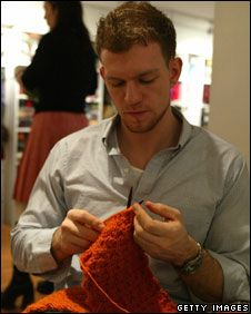 knitting man (Is it just me, or is that really really hot...)