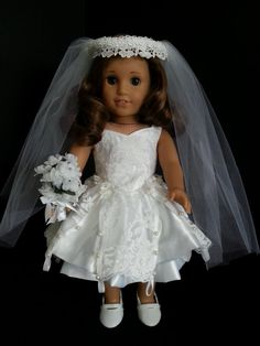 BRIDES DRESS for American Girl Doll