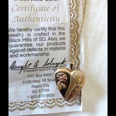 Black Hills Gold heart locket Gorgeous Black Hills Gold locket Black Hills Gold Jewelry Necklaces