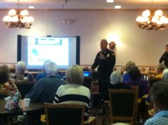 150 residents came out to learn about fraudulant scams.