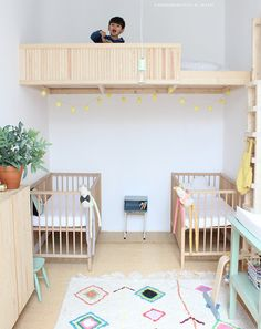Slaapkamer-delen #shared #kidsroom | Kif Kef via Kinderkamerstylist.nl