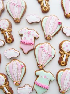 Baby Shower Hot Air Balloon Theme | Cookie Connection