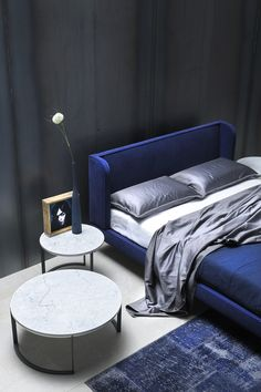 Upholstered double bed NEOCON Spazionotte Collection by @sileniamobili
