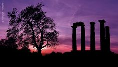 GREECE CHANNEL | Greece Art & Architecture ///  Samothrace Island, Aegean sea, Greece  The Doric columns of an ancient Greek temple in the beautiful island of Samothrace in the Aegean Sea in Greece.  In this place were found in 1863 the magnificent statue of Winged Victory of Samothrace, also called the Nike of Samothrace, which has been prominently displayed at the Louvre Museum as one of the most celebrated sculptures in the world.  researched by NEΦEΛH AΓΓEΛΛOY