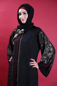 Special abaya with golden and dark red embroideries. This abaya is one of the perfect choices for the daily use and for many other events. #islamicfashion #fashion #Abaya #muhajabah #hijab #muslimah #fashionista