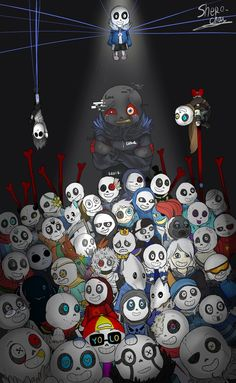 ok for people that don't know error some how ink sans creates and protects the AUs and I don't kow much about his past besides the other AUs make him feel lonely so he destroys or trys to get ride of them and I think core frisk was the frisk from his world