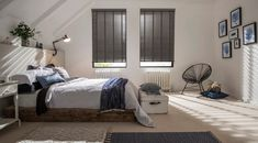 Lunaire-Faux-Wood-blind-bedroom - Find the perfect grey Faux Wood blind. Browse contemporary grey shades in our new Faux Wood blinds collection and find the perfect hue for your home. Request an in-home appointment.
