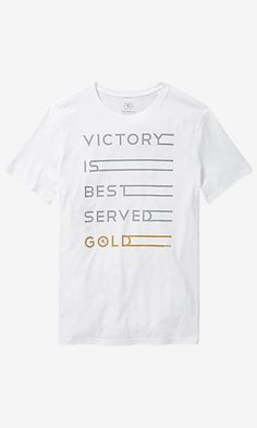 victory served gold graphic tee