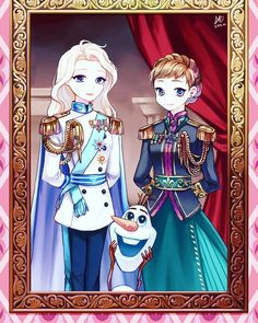 Elsa and Anna Disney Princess Frozen, Disney Rapunzel, Arte Disney, Disney Art, Disney Movies, Disney And Dreamworks, Disney Pixar, Jelsa, Boboiboy Anime