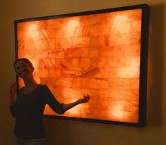Hanging Himalayan Salt Wall Built to Size Massage Room Colors, Massage Room Design, Massage Therapy Rooms, Spa Design, Wall Design, Rock Room, Salt Cave, Salt Room, Massage Business