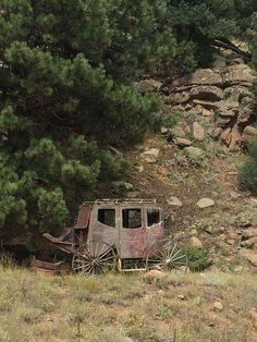 """""""Stagecoach found in the Colorado Mountains, USA, circa Abandoned Mansions, Abandoned Buildings, Abandoned Houses, Abandoned Places, Old Houses, Abandoned Vehicles, Abandoned Castles, Colorado Mountains, Colorado Rockies"""