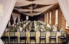 """easy DIY draping   with fairy lights between the """"bow"""" drapes"""