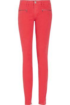 Victoria Beckham Denim|Twist mid-rise skinny jeans|NET-A-PORTER.COM