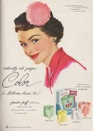 Naturally she prefers Color in bathroom tissue, too! Power-puff ZEE Tissue… Soft, lovely colors are purest white… your choice at no extra cost! Retro Advertising, Vintage Advertisements, Vintage Ads, Vintage Images, Vintage Posters, Retro Ads, Advertising Signs, Colored Toilets, Funny Commercials