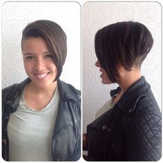Love this undercut bob, would love it more if there was a bit more of an arch showing a half moon nape! Description from pinterest.com. I searched for this on bing.com/images