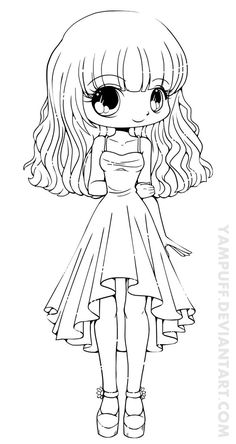 Teej Chibi Lineart Commission by *YamPuff on deviantART