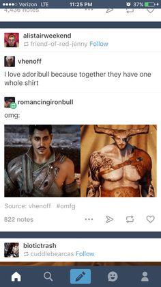 Omg XD Dorian and Bull <3