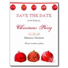 Christmas & Holiday Party Save The Date Templates | Pinterest ...