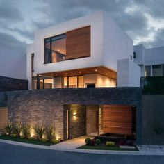 49 most popular modern dream house exterior design ideas can find Modern exterior and more on our most popular modern dream house exterior design ideas 26 House Front Design, Modern House Design, Facade Lighting, Exterior Lighting, Dream House Exterior, House Exterior Design, Facade House, House Facades, Modern Exterior