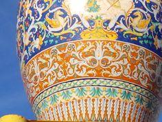 detalhe do grande vaso da ceramica Ficcola
