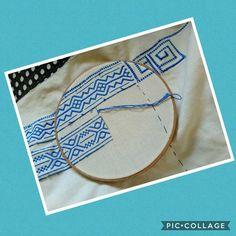 Working time!!!#embroidery #greekdesign #thread #original #pattern #prapelia