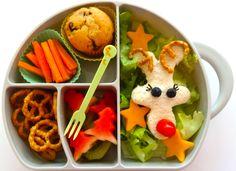 Rudolph bento in a Boon trunk lunchbox www.bentoland.com.au Bento Recipes, Watermelon, Lunch Box, Fruit, Bento Box